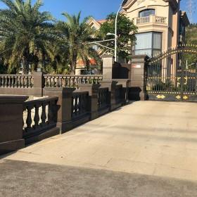 私人豪宅依山傍水 大院子围墙护栏 石材栏杆柱子系列装饰