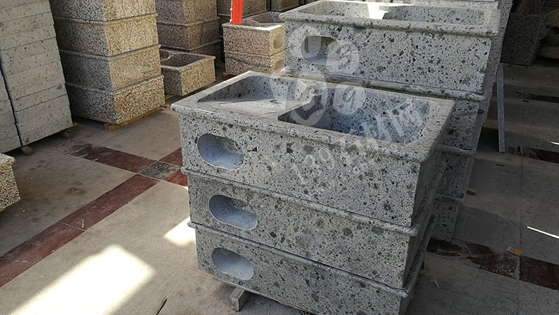 福建漳州洗衣池工厂乐晨石材批发花岗岩一体洗衣池