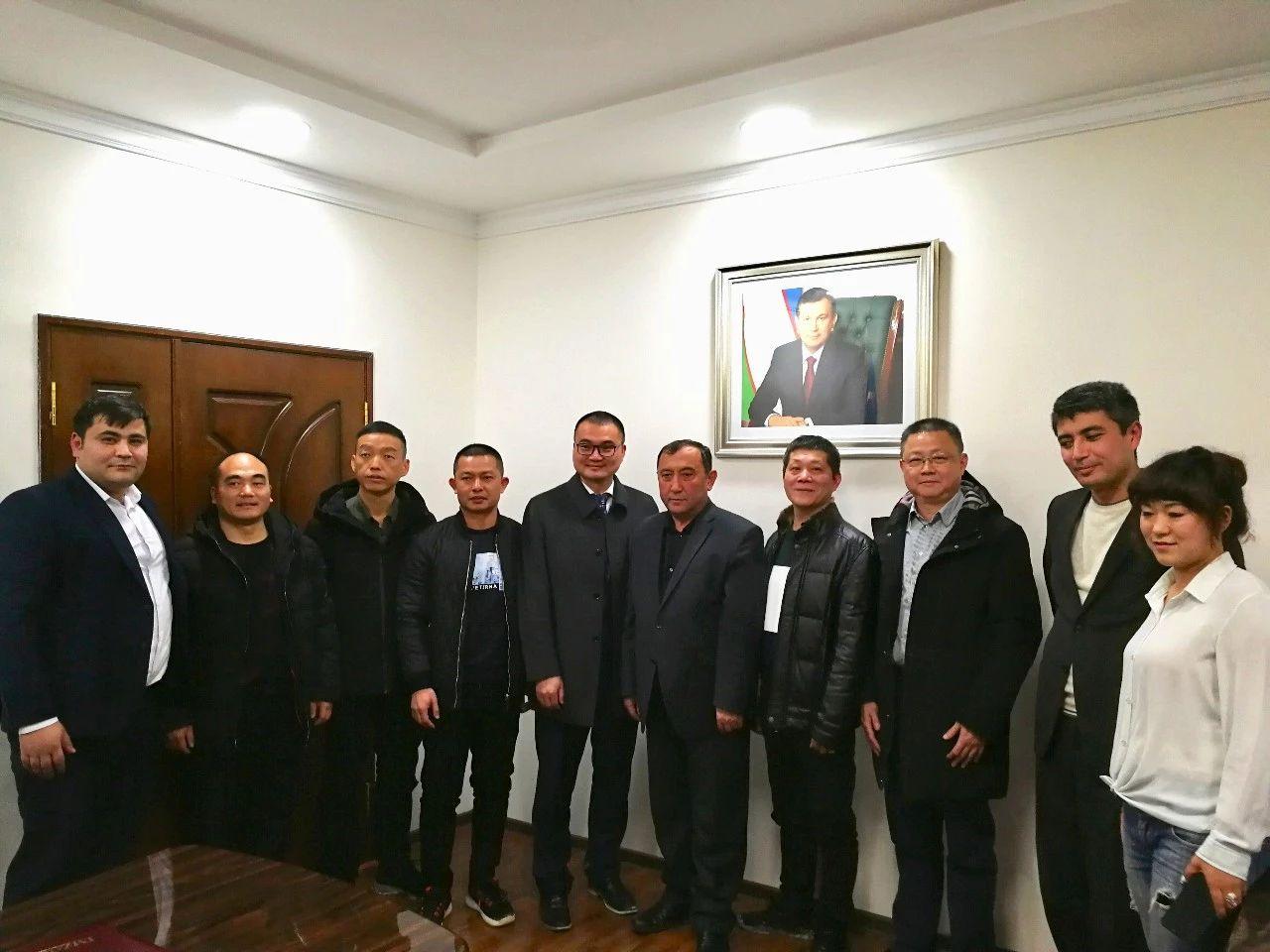 南安市石材机械辅料产业联合会一行到访乌兹别克斯坦