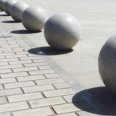 湖南花岗岩圆球 白麻石球 岳阳石材圆球