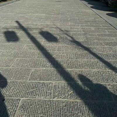 达州青石剁斧面地铺广场应用案例展示