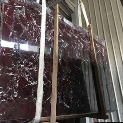 紫罗红大理石大板 光度超级好 油性足
