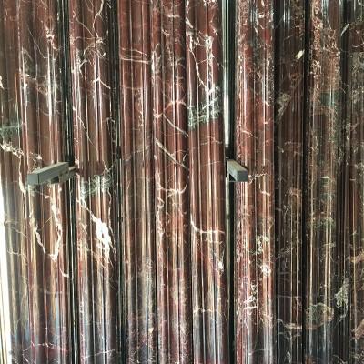 天然紫罗红大理石线条批发