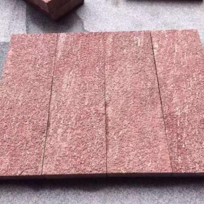 5公分荔枝面寿宁红铺地石材 红色地铺石