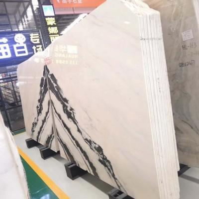 水头熊猫白大板 对拼 背景墙