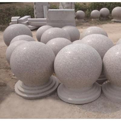 五莲花岗岩圆球 石球 挡车球供应