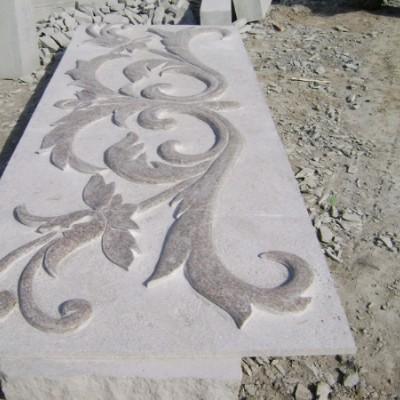五莲红石材浮雕
