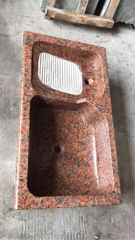 红色东莞石材批发洗衣池