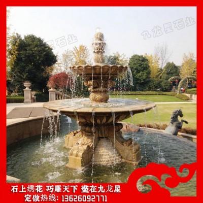 大型石雕喷泉厂家 哪里有石雕喷泉公司