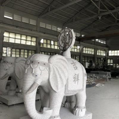 惠安石雕大象厂家 大象石雕供应