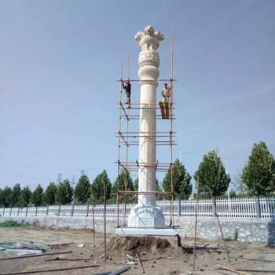 石雕柱子 图腾石雕柱子包安装施工