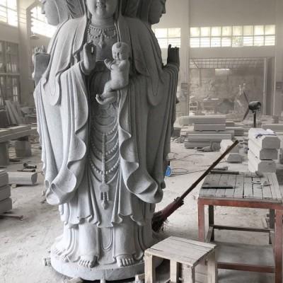 多面观音石雕佛像 大型石雕佛像石雕