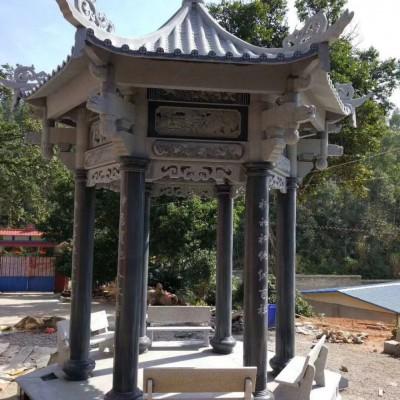 八角亭石雕 石雕亭子 中式风格休息亭子石雕