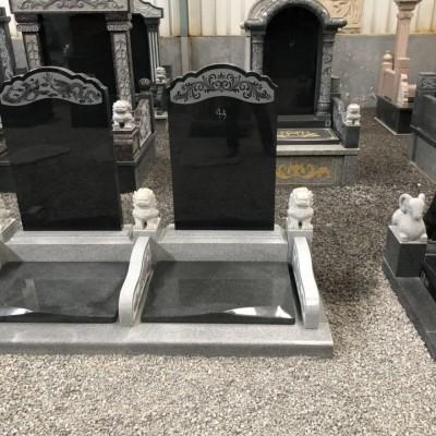 欧式墓碑雕刻 西式黑色石碑出口产品