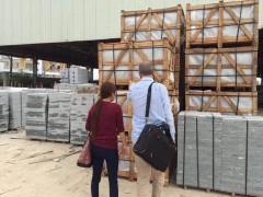 花岗岩成品出货装车 出口订单装柜