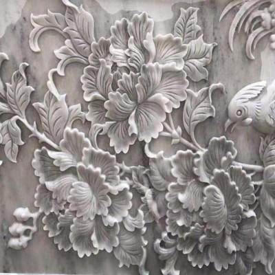 浮雕拼花 石材雕刻拼花 难度有点大的石雕产品