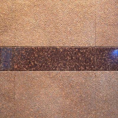 江西映山红光面与荔枝面搭配装饰的墙面效果