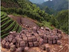 福建寿宁红鸡血红石材矿山及产品