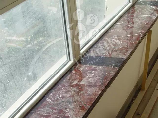 【石材家装工艺】紫罗红大理石窗台板的安装全过程