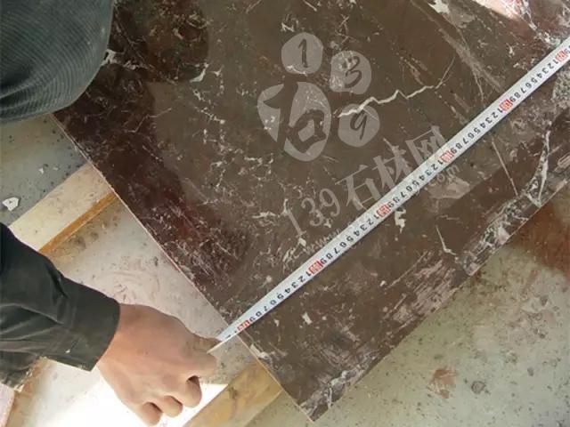 【东莞石材批发家装工艺】紫罗红大理石窗台板的安装全过程