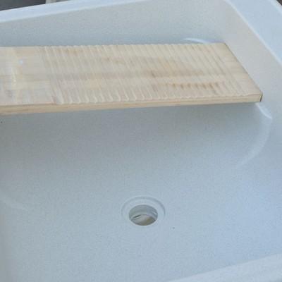 人造石英石盆带搓板洗衣池 阳台洗衣池