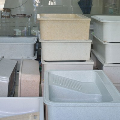 家装定制石材 石英石洗衣池