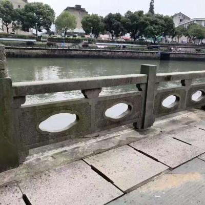 古城河道青石护栏 青石栏杆栏板配套装饰