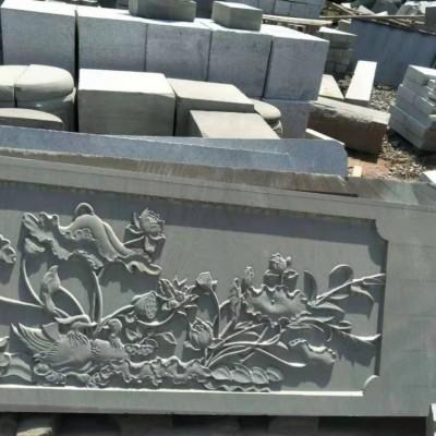 四川达州栏杆厂家 青石栏杆护栏板浮雕