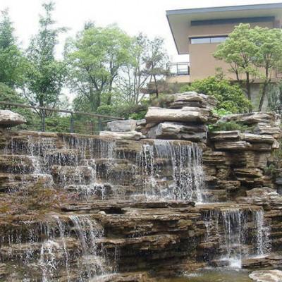 千层石假山石、工程千层石造景、公园千层石瀑布