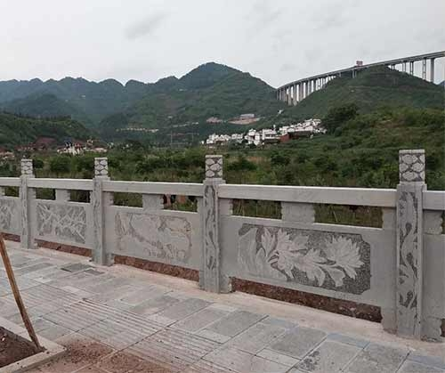 土城3公里青石栏杆