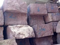 鸡血红石材荒料 红色花岗岩荒料