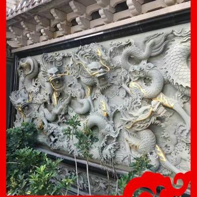 石材雕塑浮雕龙价格 室外石材浮雕价格