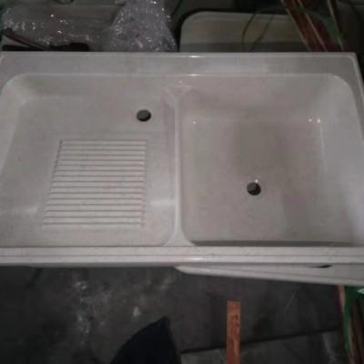 石英石洗衣池(白麻)100cm