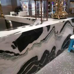 求购一款特定纹路的熊猫白大理石
