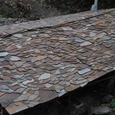 天然锈色板岩