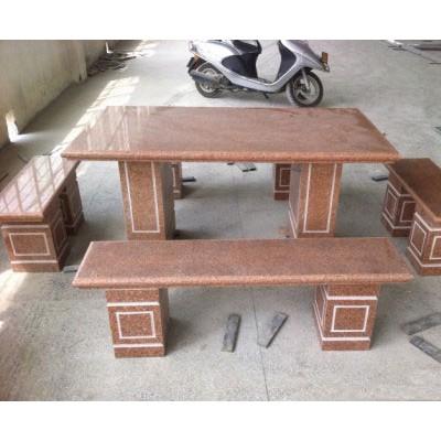 光泽红石桌椅