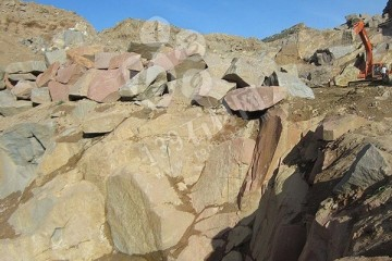 山西兴县红花岗岩从矿山到板材的全过程(图文)