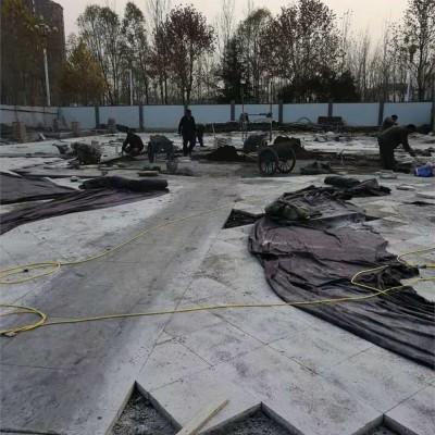 广场铺装队-石材铺装工人-园林石材铺装队伍