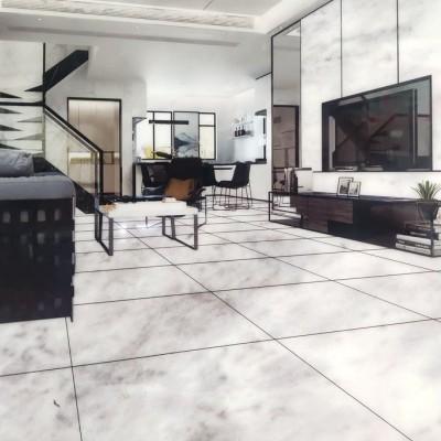 香雪白室内墙面 地面铺装效果