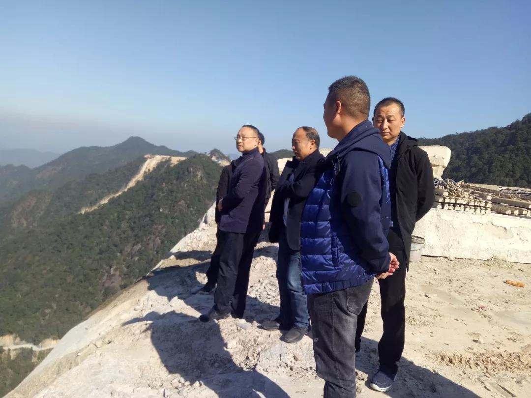 德兴市委常委、市纪委书记、市监委主任李元涛到龙头山乡现场督导石材整治工作