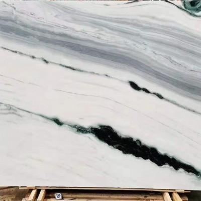 熊猫白 水墨绿的板面 中国风背景墙