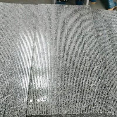 河南深灰色花岗岩光面拉丝板 可替代芝麻黑