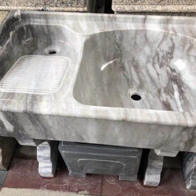 大理石一体洗衣池 原石精品