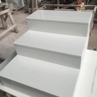 微晶石楼梯板(纯白)