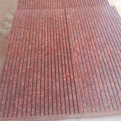 映山红富贵红光泽红拉丝面石材产品质量好水头石材批发