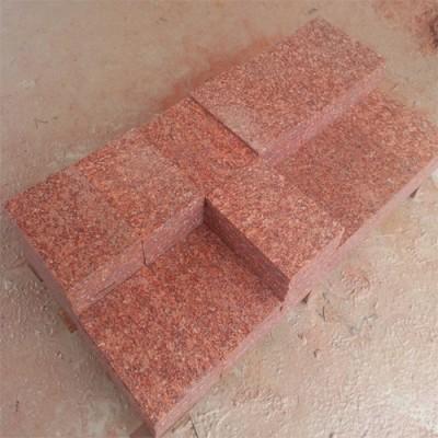 映山红石材火烧板石材展示