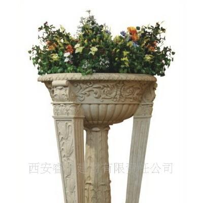 西安花钵厂供应砂岩花钵 玻璃钢花钵 石材花钵 花盆