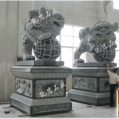 动物石雕石狮子石雕狮子的象征意义-凯岩石业