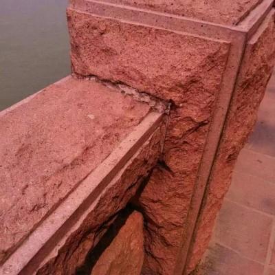 光泽红复古栏杆 护城河栏杆 、河栏杆自然面