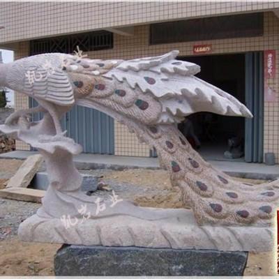 动物石雕孔雀石雕的摆放及象征的寓意-凯岩石业